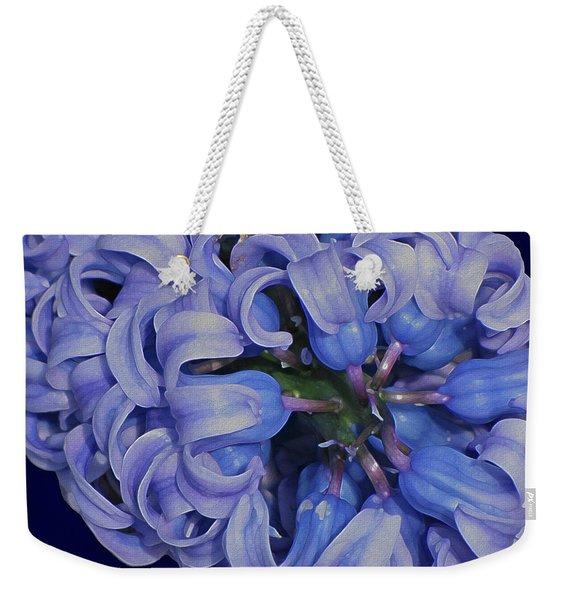 Hyacinth Curls Weekender Tote Bag