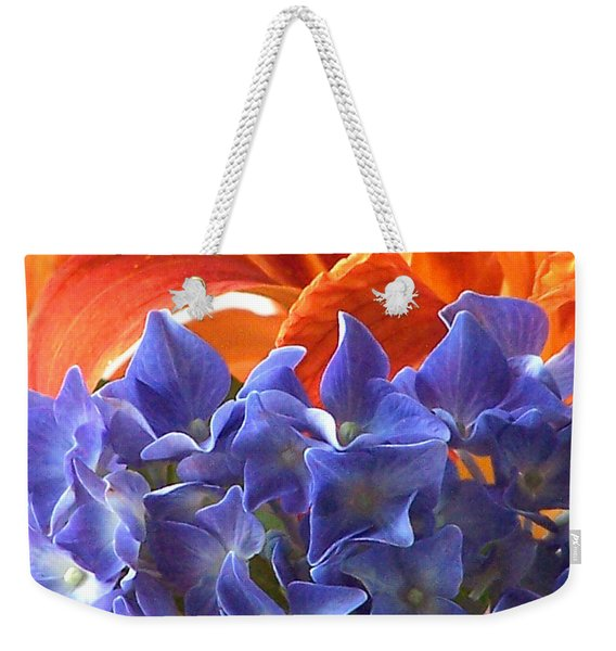 Hyacinth With Flames Weekender Tote Bag