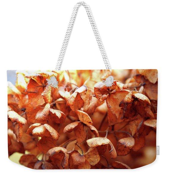 Hydrangea In Sunlight Weekender Tote Bag