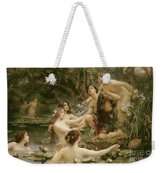 Hylas And The Water Nymphs Weekender Tote Bag