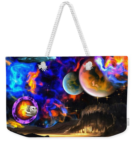 Hyperactivity Sector X66 In The Andromeda Gallaxy Weekender Tote Bag