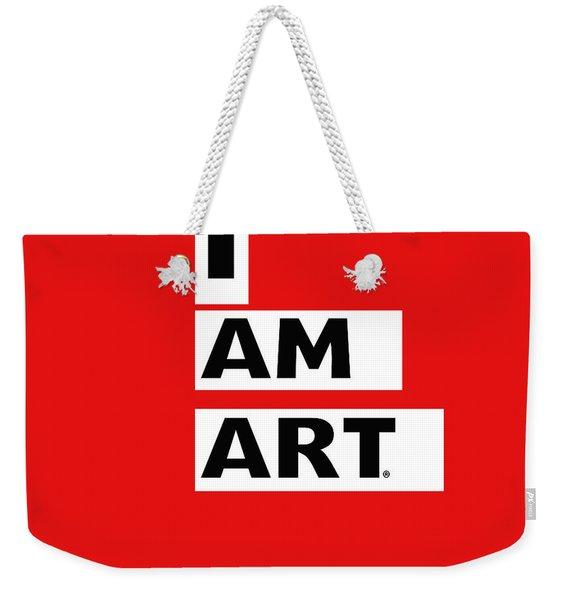 I Am Art Stripes- Design By Linda Woods Weekender Tote Bag