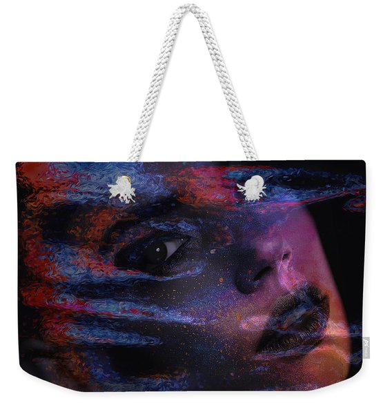 Weekender Tote Bag featuring the digital art I Breathe Art Therefore I Am Art by ISAW Company