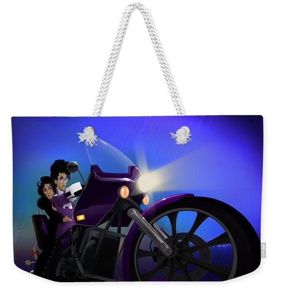 I Grew Up With Purplerain Weekender Tote Bag