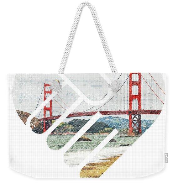 I Left My Heart In San Fransisco Weekender Tote Bag