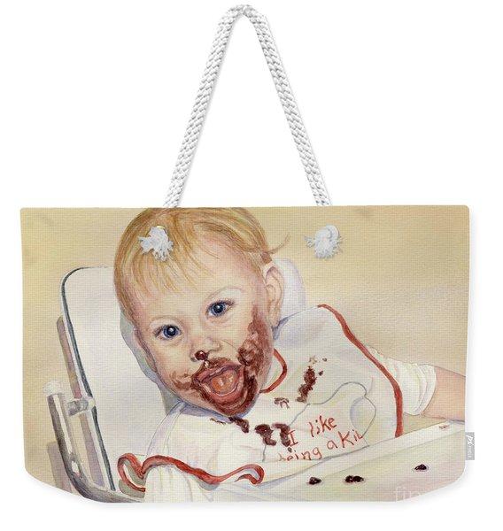 I Like Being A Kid Weekender Tote Bag