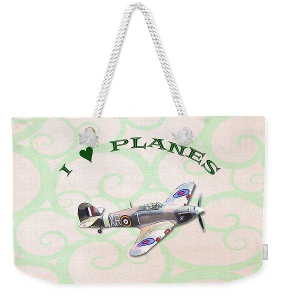 I Love Planes - Hurricane Weekender Tote Bag