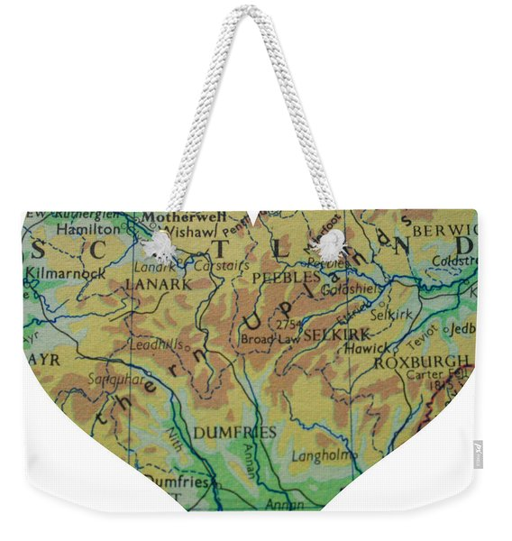 I Love Scotland Heart Map Weekender Tote Bag