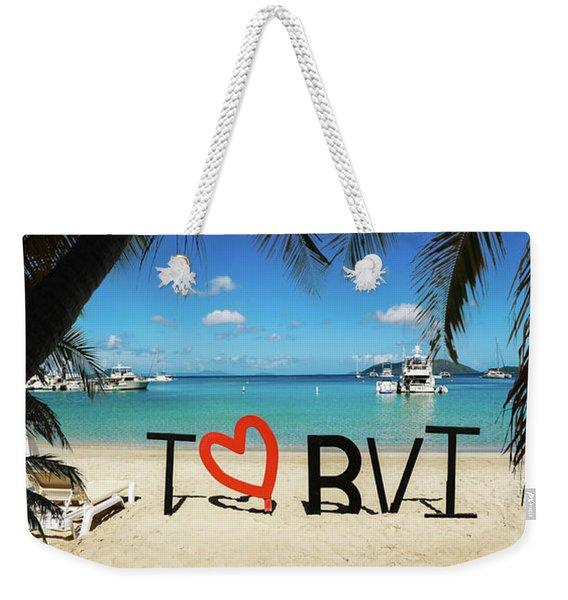 I Love The Bvi Weekender Tote Bag
