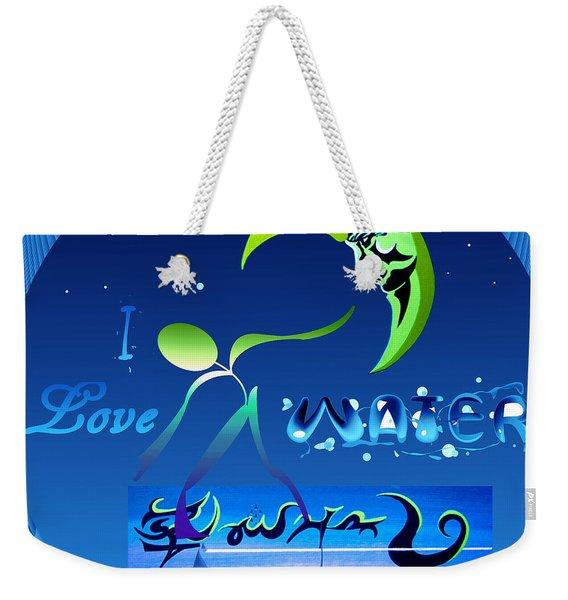 I Love Water  Weekender Tote Bag