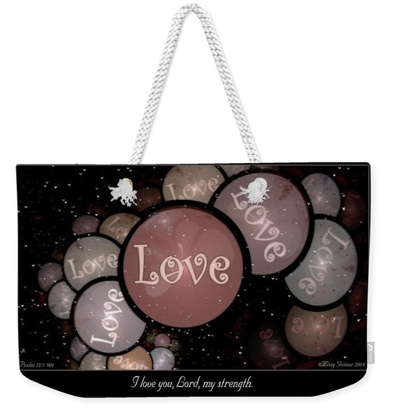 I Love You Weekender Tote Bag