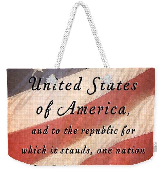 I Pledge Weekender Tote Bag