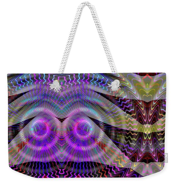 Weekender Tote Bag featuring the digital art I See You by Visual Artist Frank Bonilla