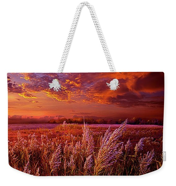I Spoke To God Today Weekender Tote Bag