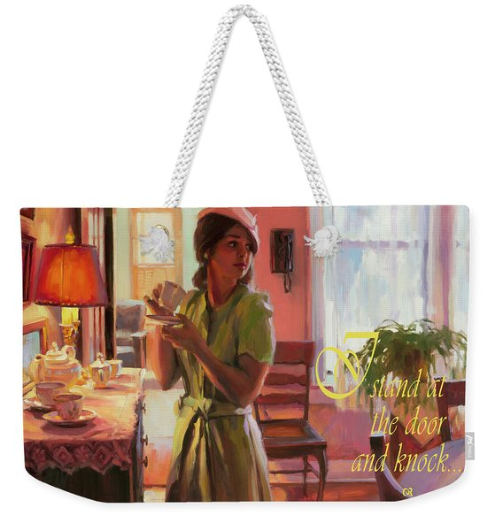I Stand At The Door And Knock Weekender Tote Bag