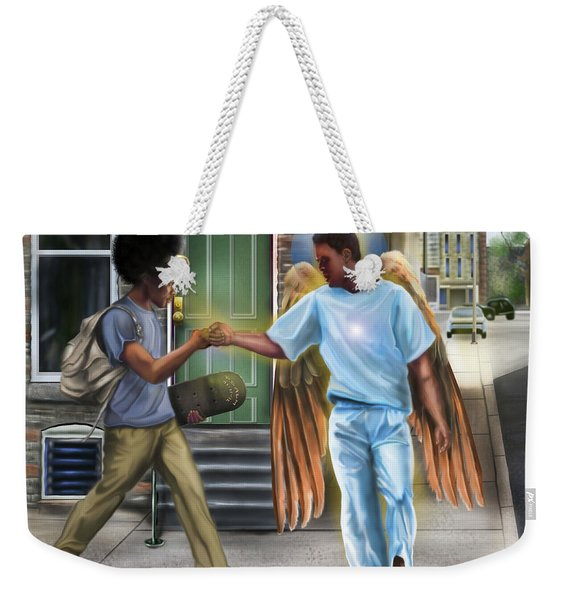 I Walk With Angels Weekender Tote Bag