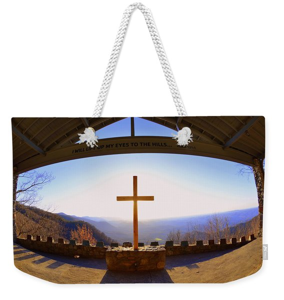 I Will Lift My Eyes To The Hills Psalm 121 1 Weekender Tote Bag