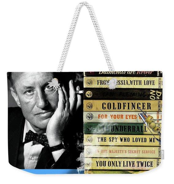 Ian Fleming, All Originals, 14 Novels Collection, James Bond Weekender Tote Bag