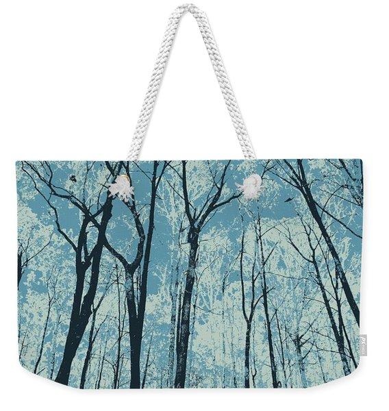 Ice Blue Weekender Tote Bag