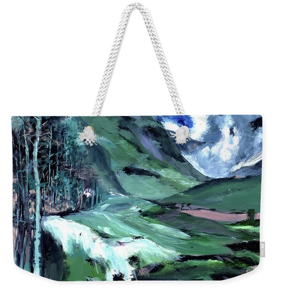 Ice Clouds Mountains And Me Weekender Tote Bag
