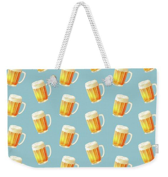 Ice Cold Beer Pattern Weekender Tote Bag