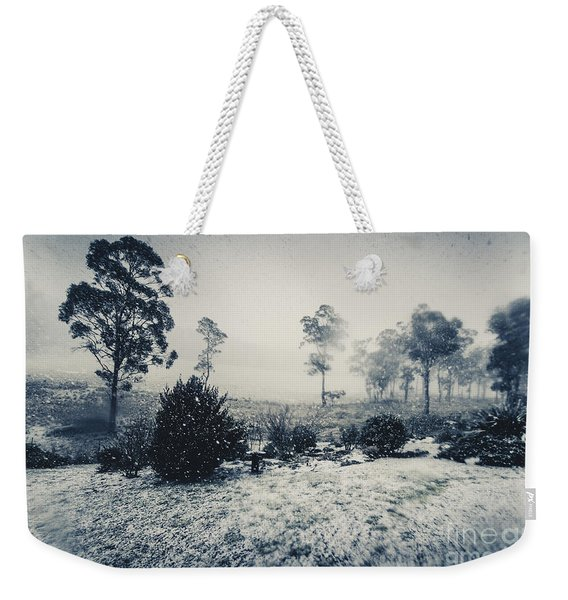 Ice Cold Winter Background Weekender Tote Bag