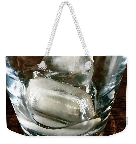 Ice Cubes In A Glass Weekender Tote Bag