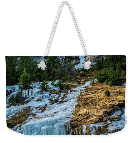 Ice Fall Weekender Tote Bag