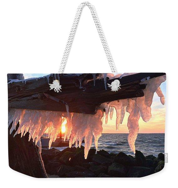Ice Fangs Weekender Tote Bag