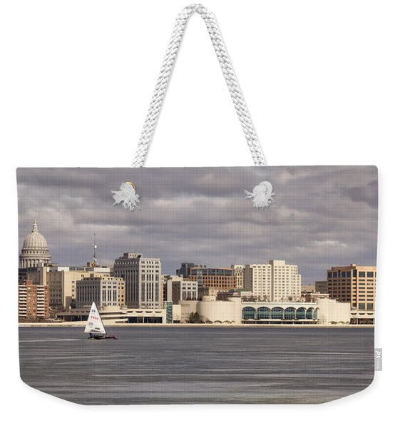 Ice Sailing - Lake Monona - Madison - Wisconsin Weekender Tote Bag