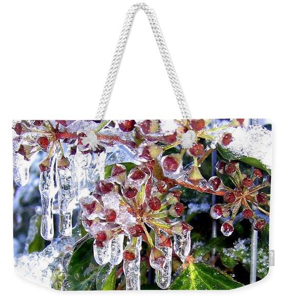 Iced Ivy Weekender Tote Bag