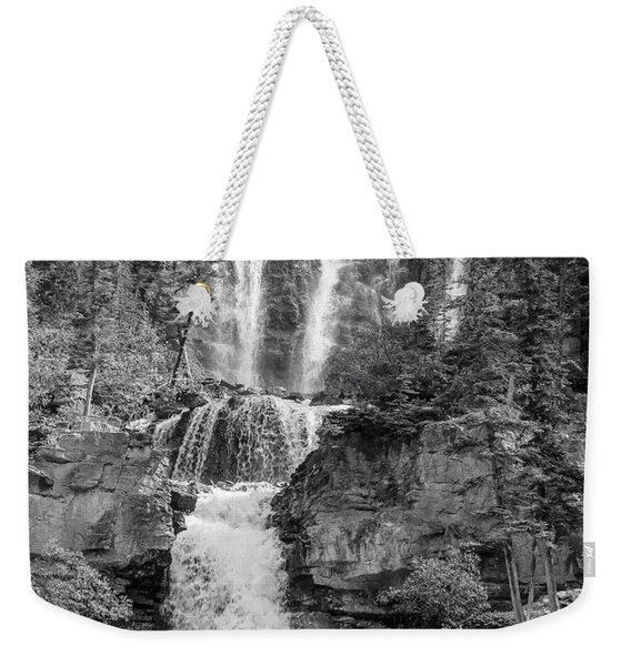 Icefields Waterfall Weekender Tote Bag