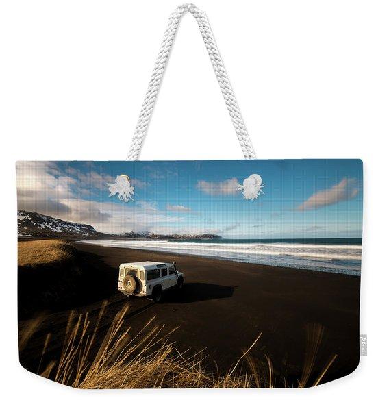 Iceland Black Sand Beach Weekender Tote Bag