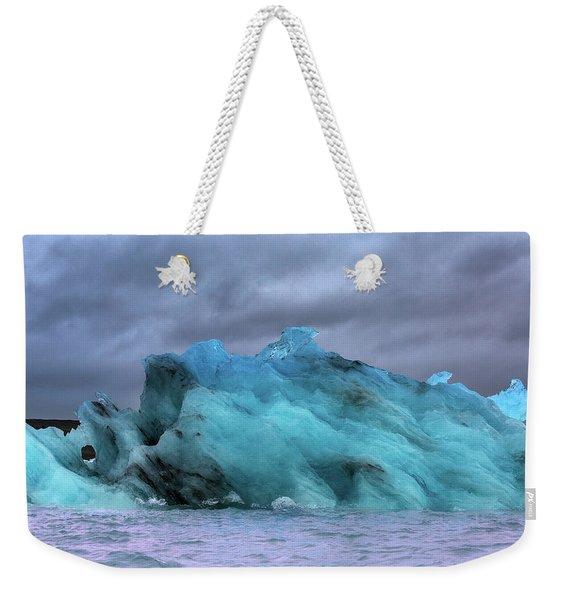 Iceland Ocean Blue Ice Glaciers Weekender Tote Bag