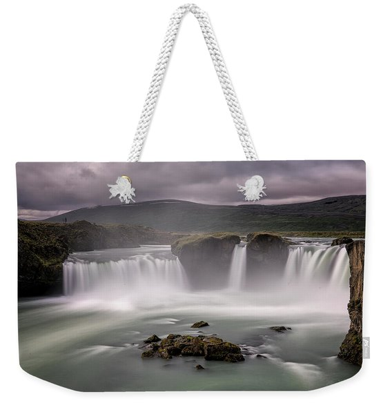Iceland Waterfall Weekender Tote Bag