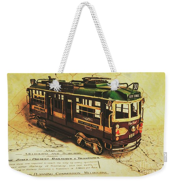 Icon Melbourne Tram Art Weekender Tote Bag