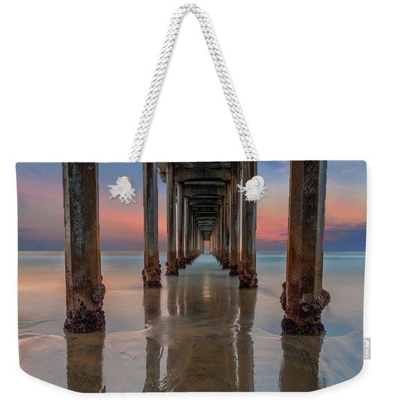 Iconic Scripps Pier Weekender Tote Bag