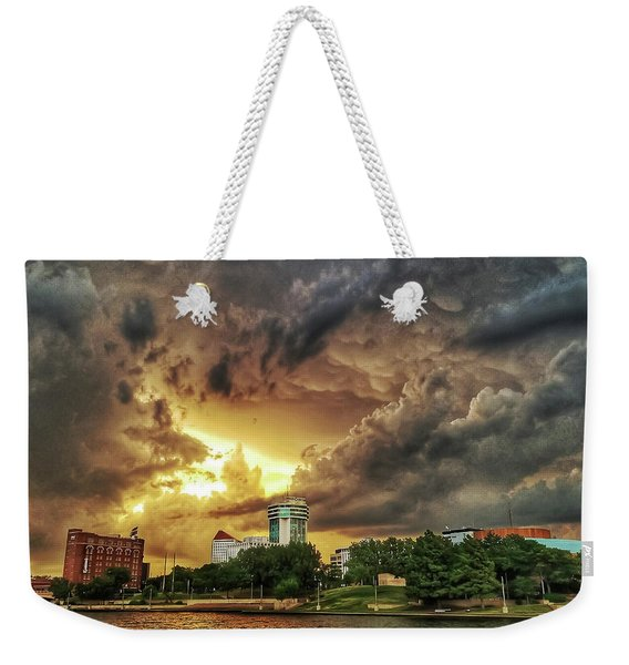 Ict Storm - From Smrt-phn L Weekender Tote Bag
