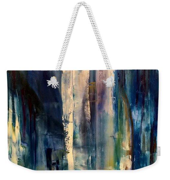 Icy Cavern Abstract Weekender Tote Bag