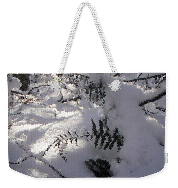 Icy Fern Weekender Tote Bag