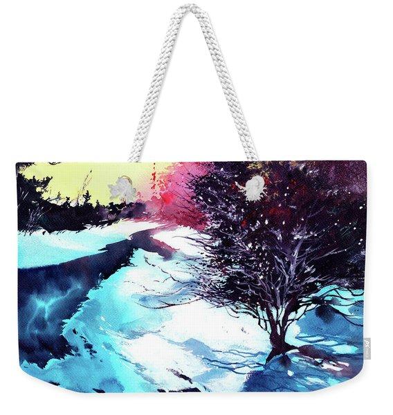 Icy Morning Weekender Tote Bag