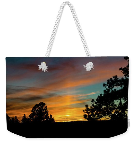 Weekender Tote Bag featuring the photograph Icy Pillar by Jason Coward