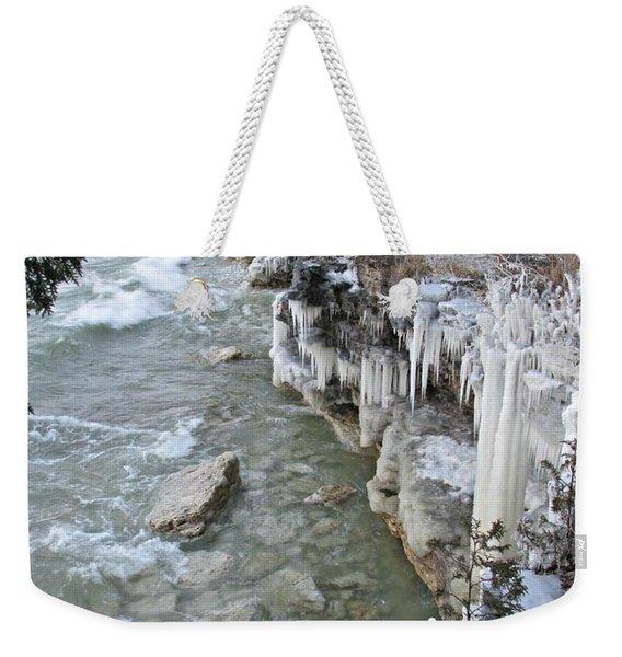 Icy Shores Weekender Tote Bag