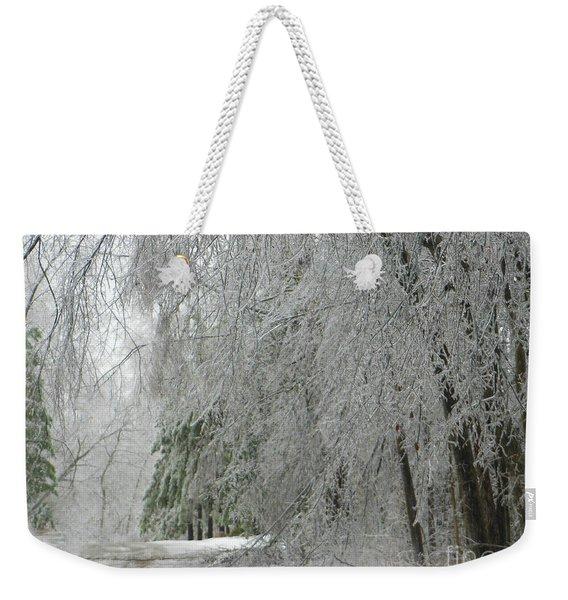 Icy Street Trees Weekender Tote Bag