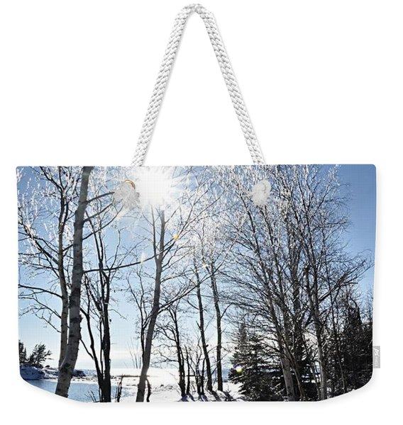 Icy Sunburst Weekender Tote Bag
