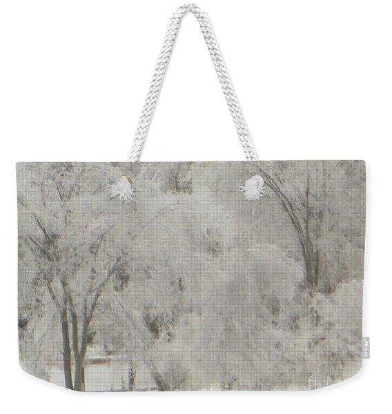Icy Trees Weekender Tote Bag