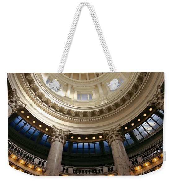 Weekender Tote Bag featuring the photograph Idaho Capitol Half Dome by Patricia Strand