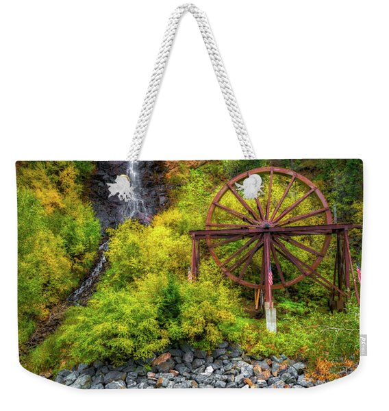 Idaho Springs Water Wheel Weekender Tote Bag