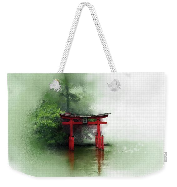 Weekender Tote Bag featuring the digital art Idyll by Gina Harrison