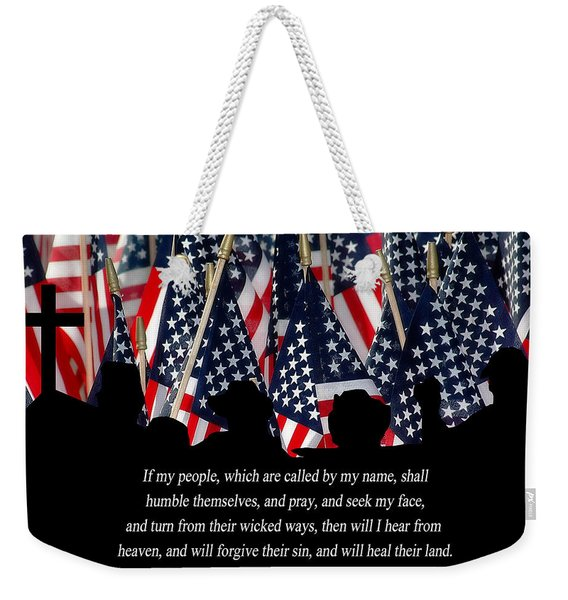 Weekender Tote Bag featuring the photograph If My People by Carolyn Marshall